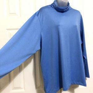 Susan Graver Essentials Shirt Stretch Size 2X Blue